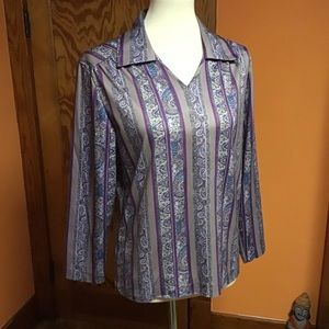 Vintage 70s paisley n striped funky tunic